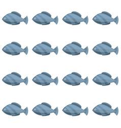 Seamless vintage fish drawings pattern vector