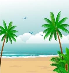 tropical beach vector image vector image