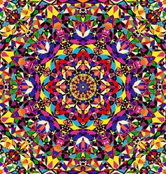 bright geometric seamless kaleidoscope pattern vector image