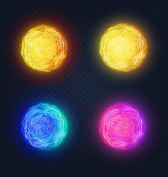different abstract luminous vector image vector image