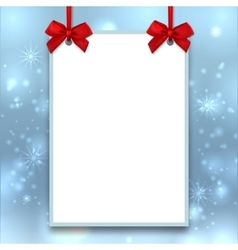 Mockup Christmas poster Empty blank A4 size vector image vector image