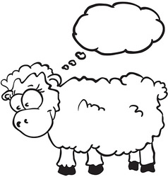 sheep with thought bubble vector image vector image