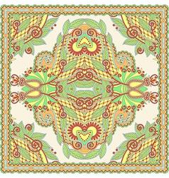 Traditional Ornamental Floral Paisley Bandana vector image