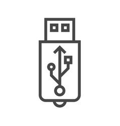 usb line icon vector image