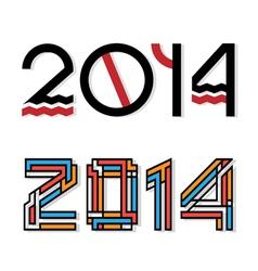 design happy new year 2014 vector image