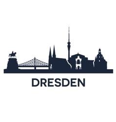 Dresden City Skyline vector image