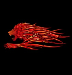 flame lion vector image vector image
