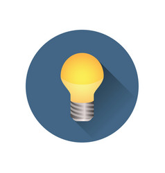 Light bulb icon in a circle vector