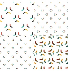 Oval seamless patterns set in modern clean and vector image vector image