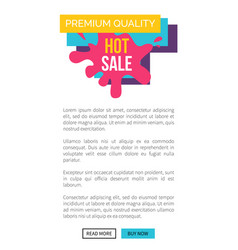 premium quality hot sale promo web banner label vector image