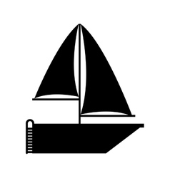 sailboat icon over white background vector image vector image
