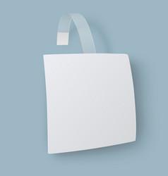 White square paper advertising wobbler vector image