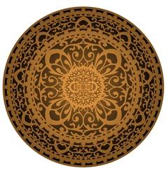 brown rug vector image vector image