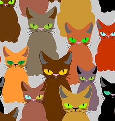 Cats seamless pattern background of pet Retro vector image