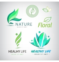 set of eco icons logos Healthy man vector image
