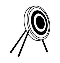 Target bullseye strategy goal sign symbol icon vector