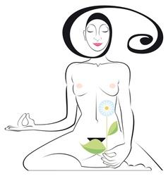 yoga position vector image