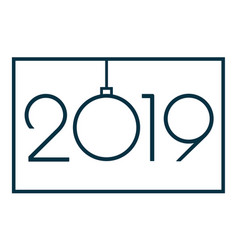 2019 happy new year or christmas vector image