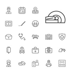22 doctor icons vector
