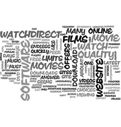 a good website to watch movies online text word vector image