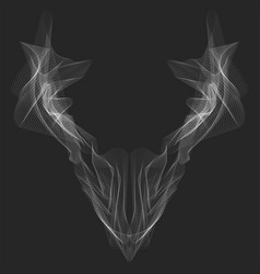 Abstract graphic animal head x-ray line art for vector