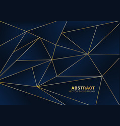 abstract polygonal pattern luxury style on blue vector image