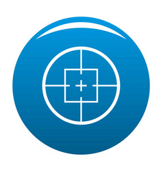 aiming device icon blue vector image