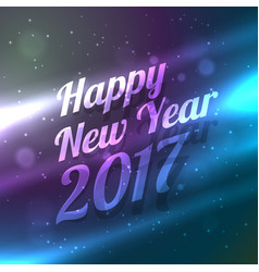 amazinf happy new year 2017 background with light vector image