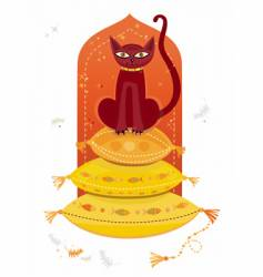Arabic cat vector