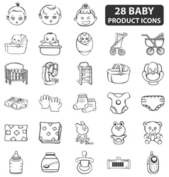 Baproduct icons vector