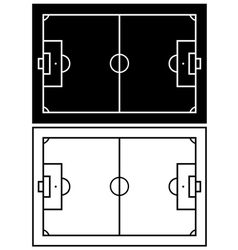 Black and white soccer field vector