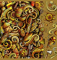 Cartoon doodles africa bright colors vector