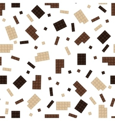 Chocolate bar seamless pattern vector image