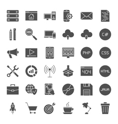 Coding Solid Web Icons vector image