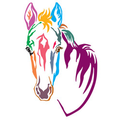 Colorful decorative horse 4 vector