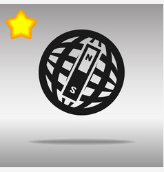 Compass black con button logo symbol concept vector