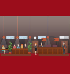 court hearing concept flat vector image