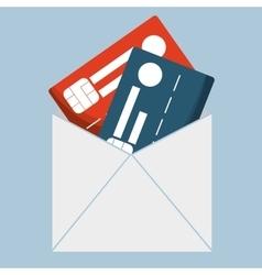 Credit cards banking envelope vector