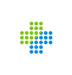 cross medic hospital sign logo vector image