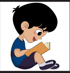 cute kid read a book for exame vector image