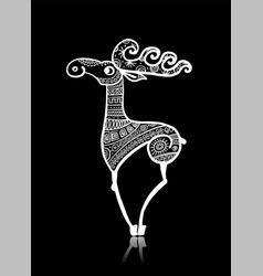 deer character sketch for your design vector image