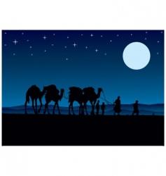 desert camels vector image