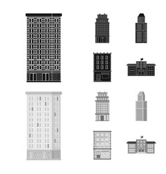 design of municipal and center logo vector image