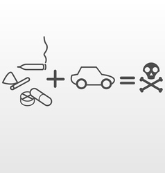 Drugs and driving vector