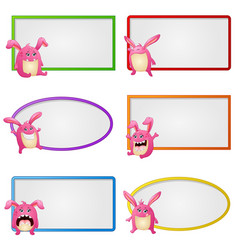 empty frame with little monster vector image