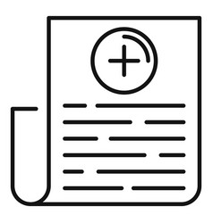 family health paper icon outline style vector image