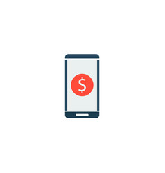 financial app icon flat element vector image