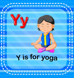 flashcard letter y is for yoga vector image