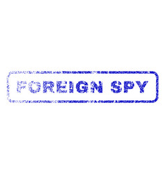 Foreign spy rubber stamp vector