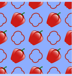 fresh red seamless pattern vector image